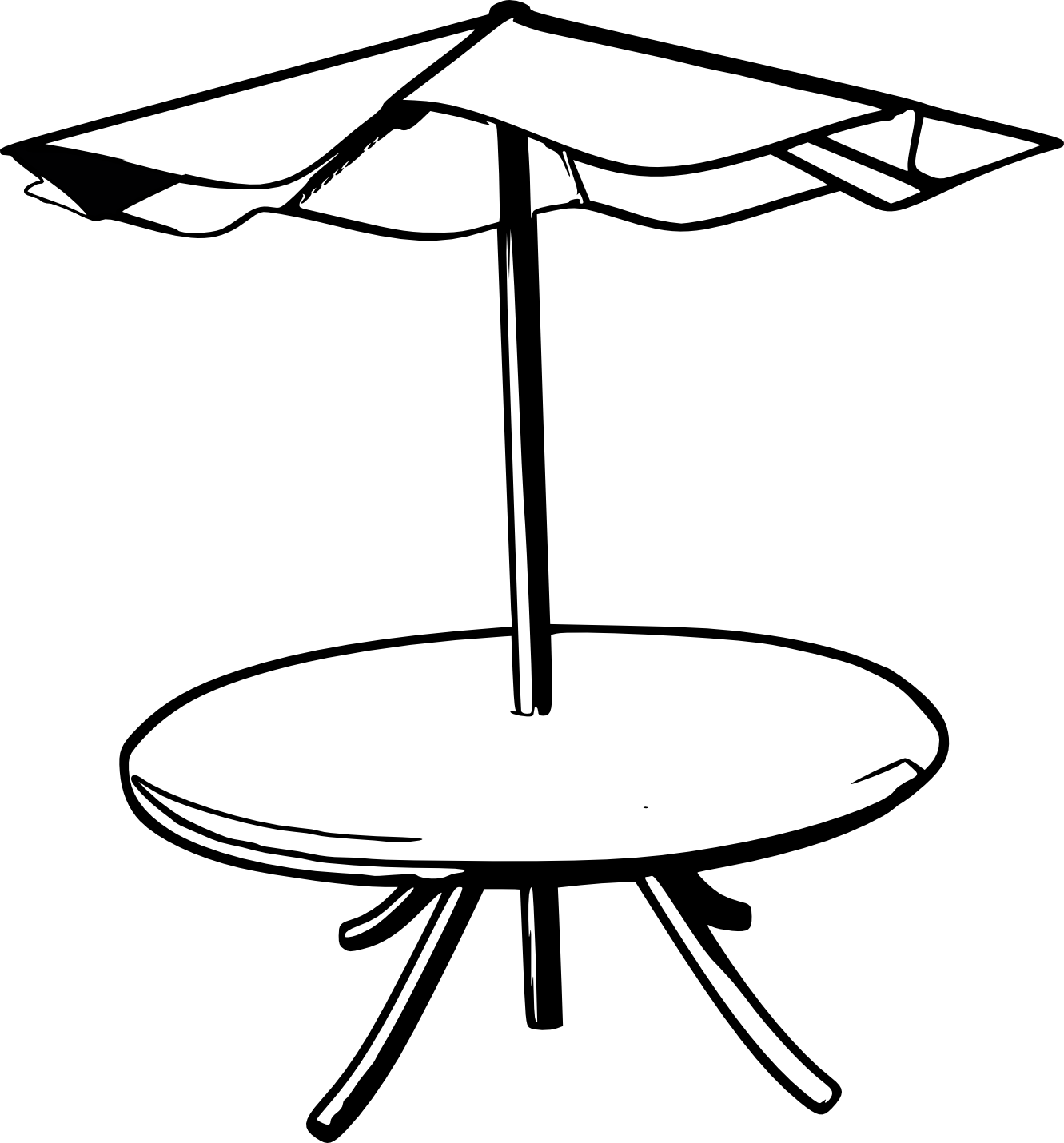 Line Drawing Table : Umbrella coloring sheet clipart best