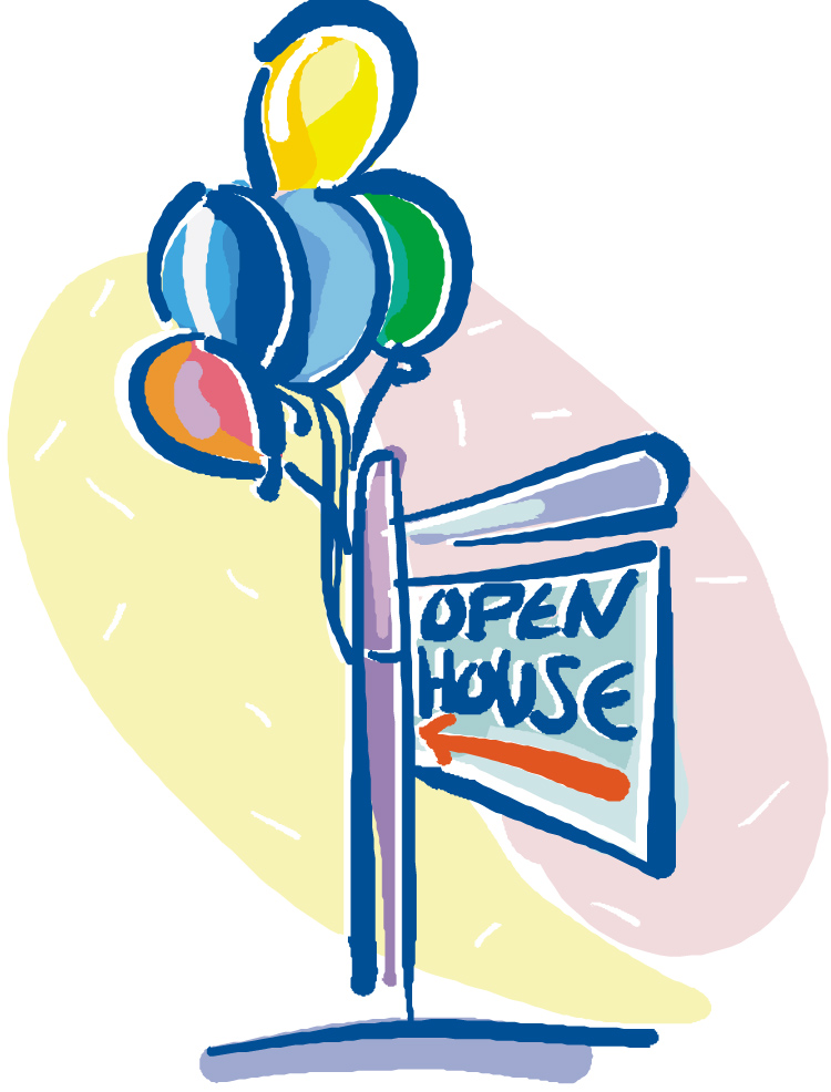free clip art open house - photo #10