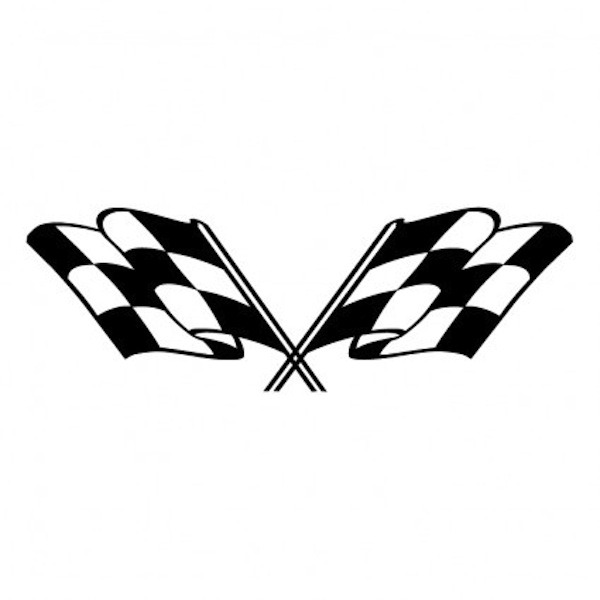 Crossed Checkered Flags Clip Art - ClipArt Best