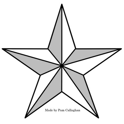 Large Star Template Large star template to print