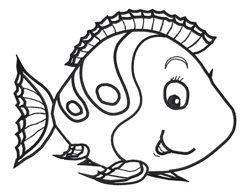 cute cartoon fish coloring pages - photo#19