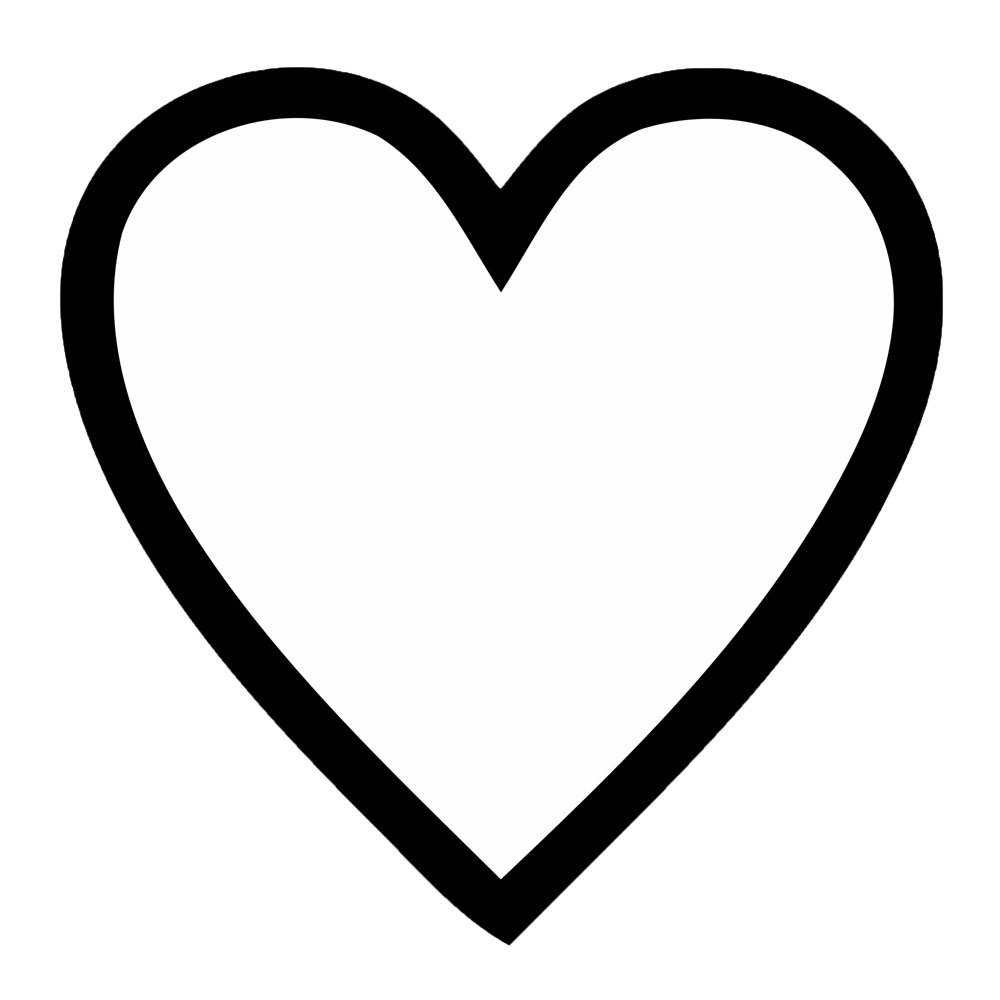 Line Art Heart Outline : Heart template clipart best