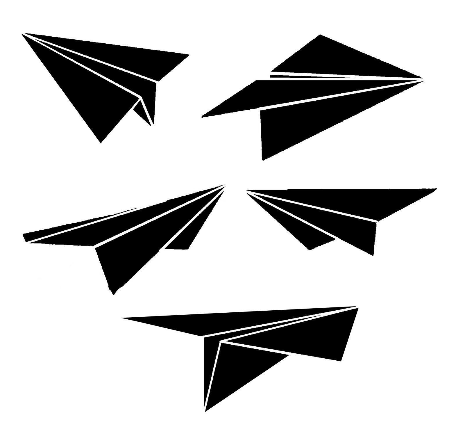 Paper Airplane Clip Art - ClipArt Best