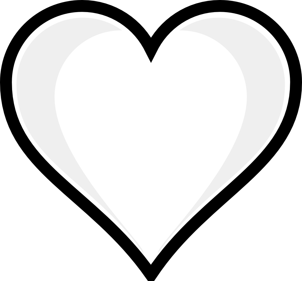 Clipart Heart Black And White - ClipArt Best