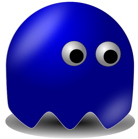 11 pac man ghost blue free cliparts that you can download to you ...