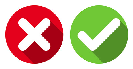 Check And X Symbol - ClipArt Best X And Check Icon
