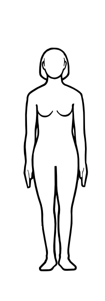 Female Body Outline Drawing - ClipArt Best