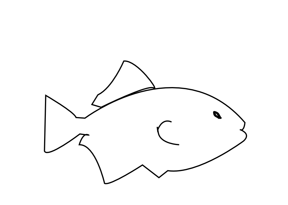Black And White Fish Clip Art - ClipArt Best