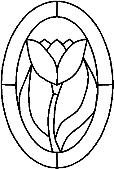Free stained glass flower patterns clipart best - Stained glass ideas patterns ...