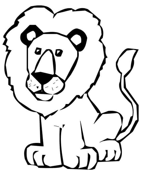 Outline Lion - ClipArt Best