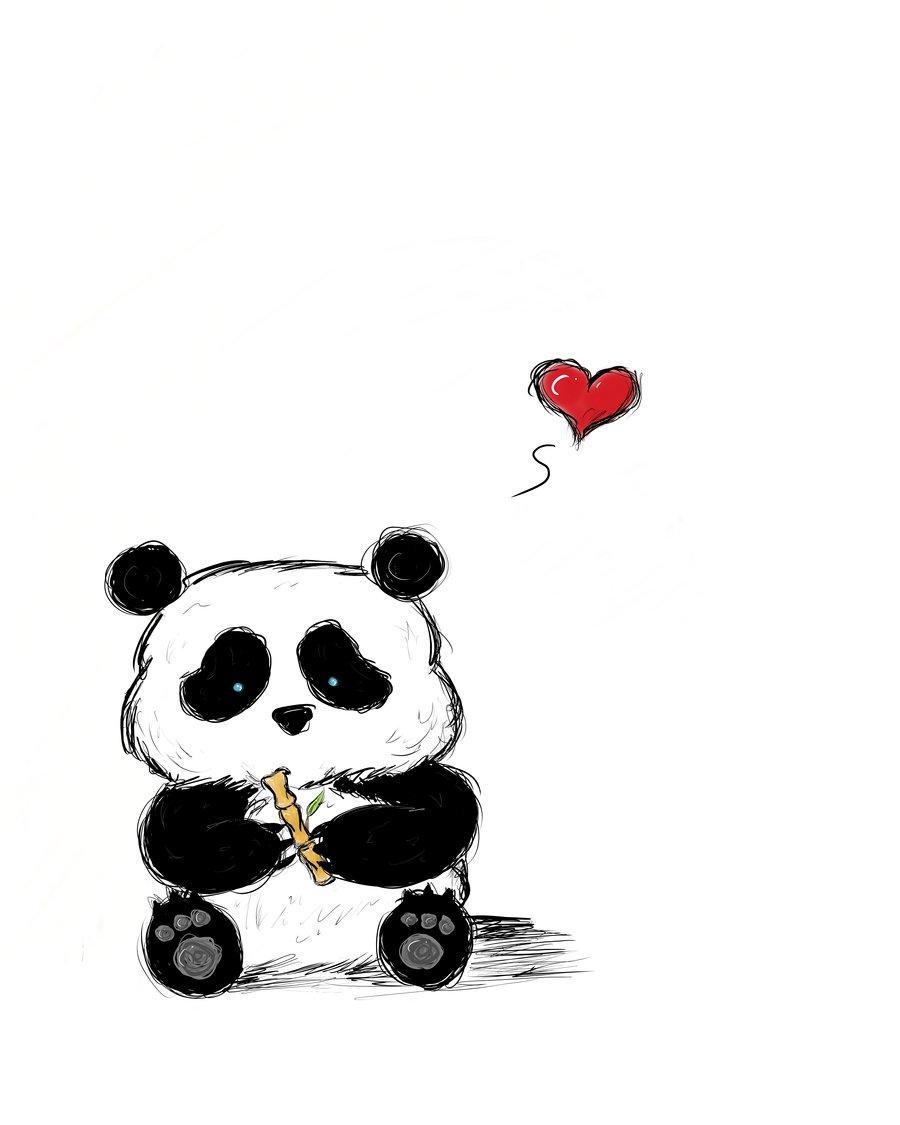 Cute panda baby drawing - photo#15