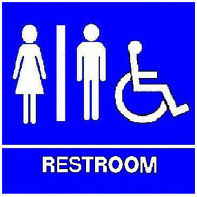 trimco signage ada restroom sign with braille unisex handicap