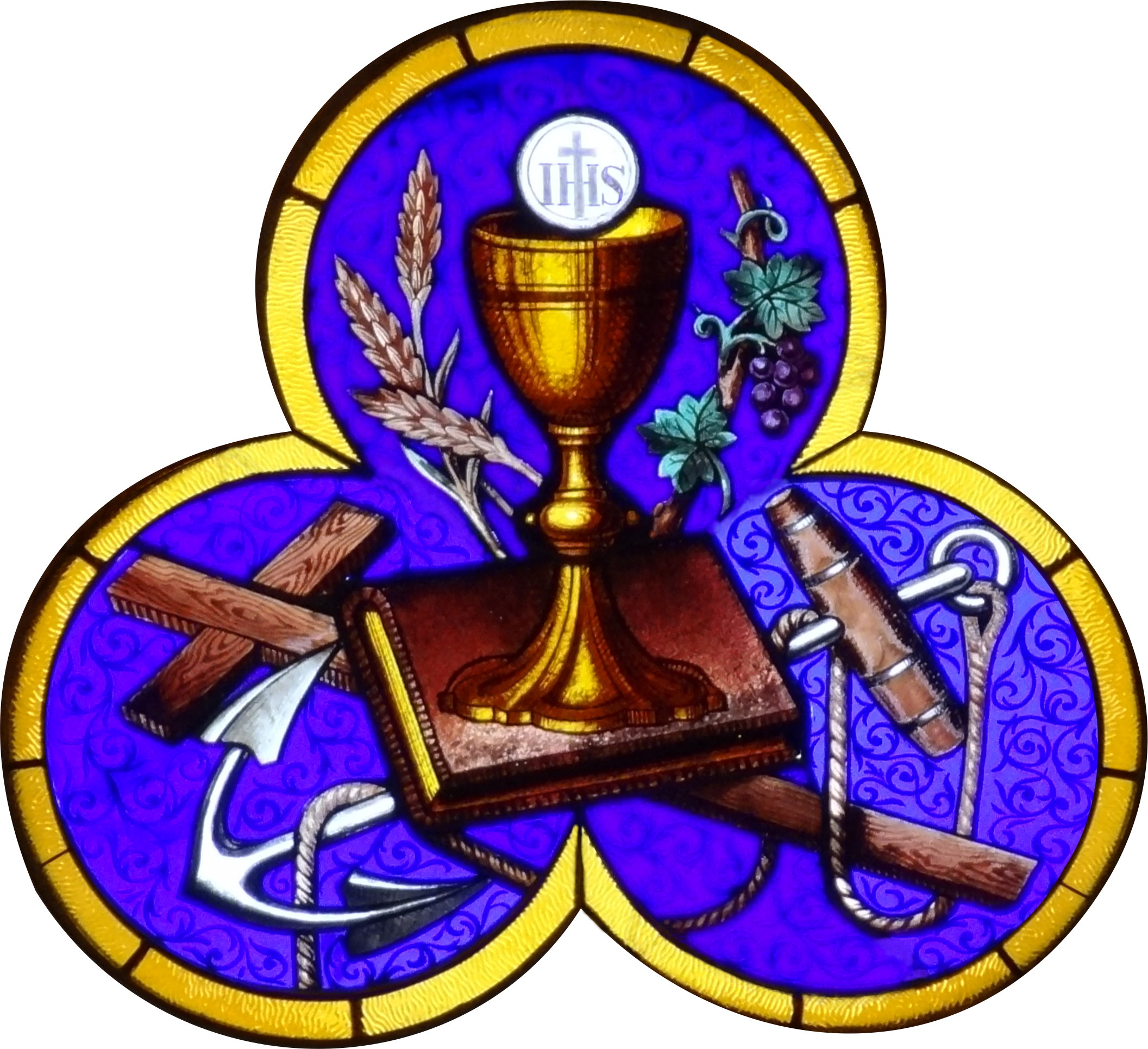 Chalice Book Grapes Wheat Cross And Anchor Jpg The Work