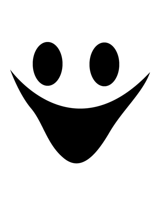 Happy ghost face Free Printable Coloring Pages ClipArt