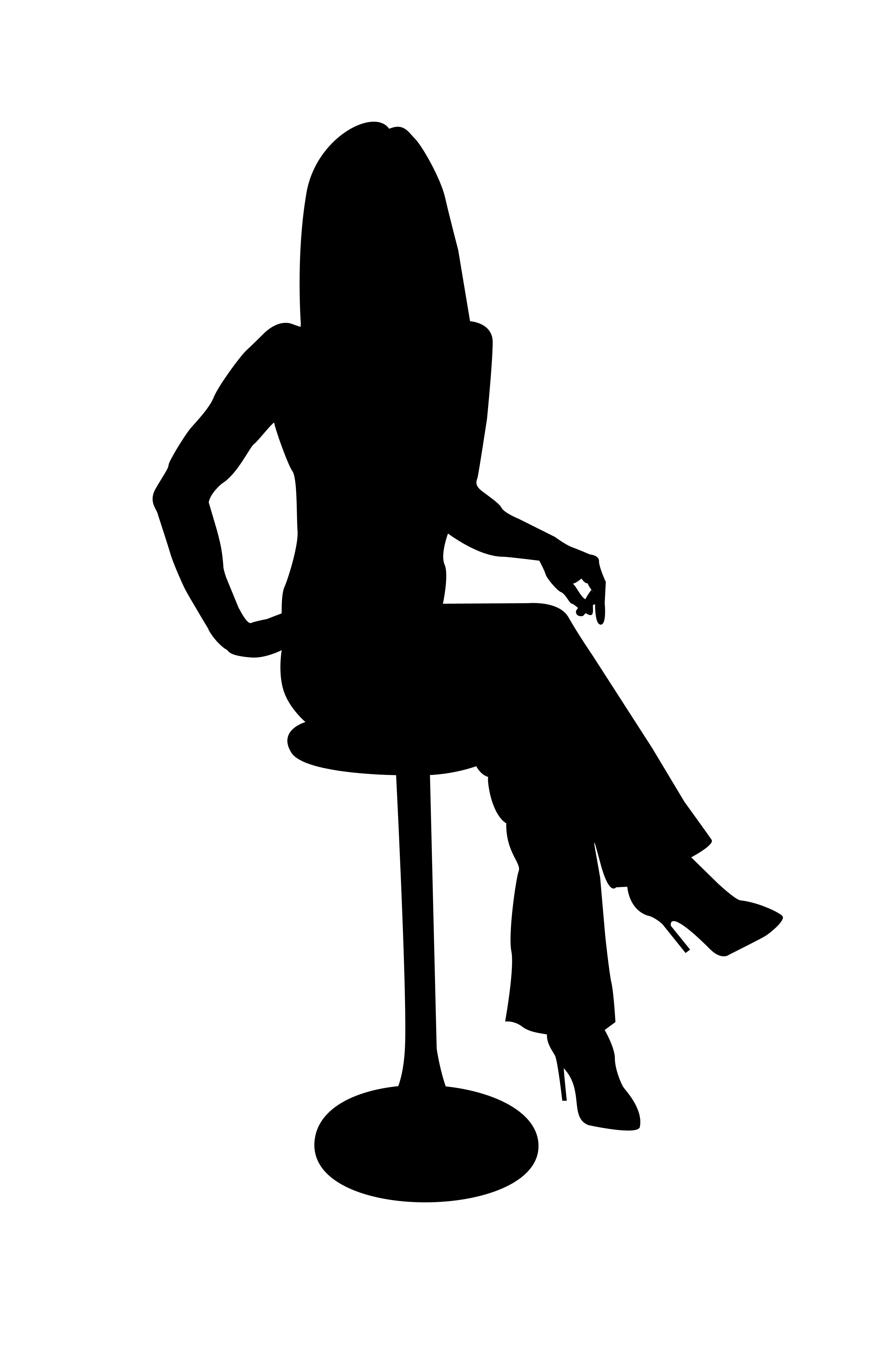 Sitting Silhouette Clipart Best