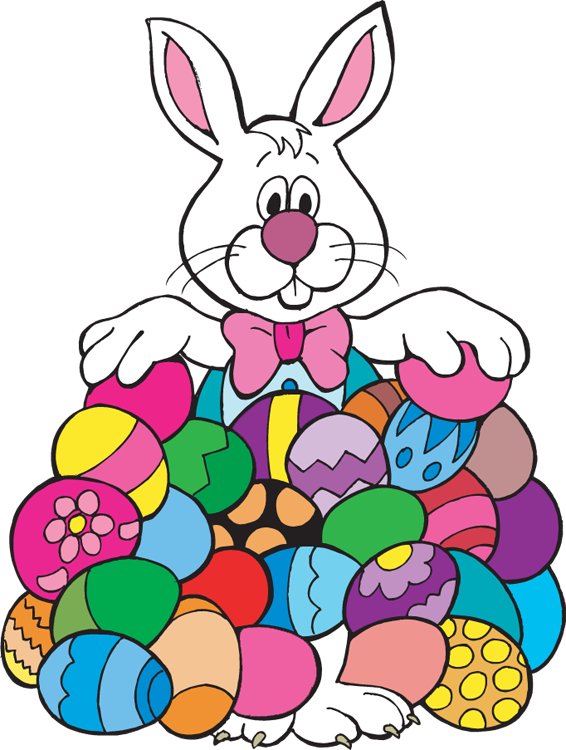 easter bunny with eggs clipart . Free cliparts that you can download ...