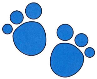 Blue's clues paw prints - ClipArt Best - ClipArt Best