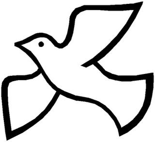 Holy spirit dove clipart black and white - photo#13