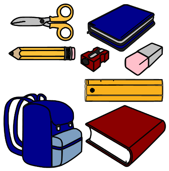 Beanie's Tag You're It: School Supplies - ClipArt Best - ClipArt Best