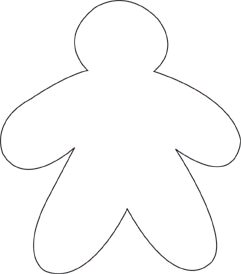 About me gingerbread outline - ClipArt Best - ClipArt Best