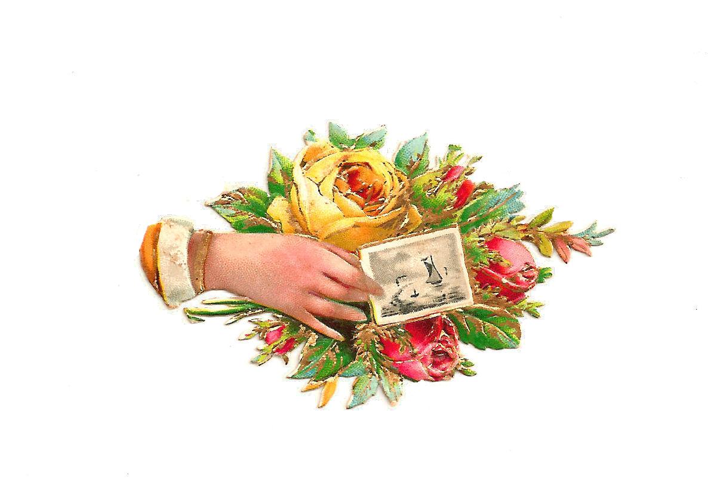 Antique Images: Free Rose Clip Art: Antique Victorian Scrap of ...