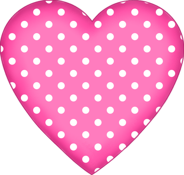 free polkadot pink heart valentines day graphic