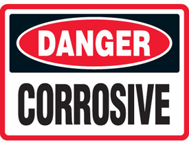 Corrosive Materials Signs | Free Shipping from MySafetySign