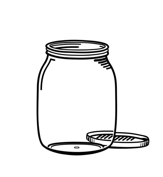 Printable Mason Jar Outline - ClipArt Best