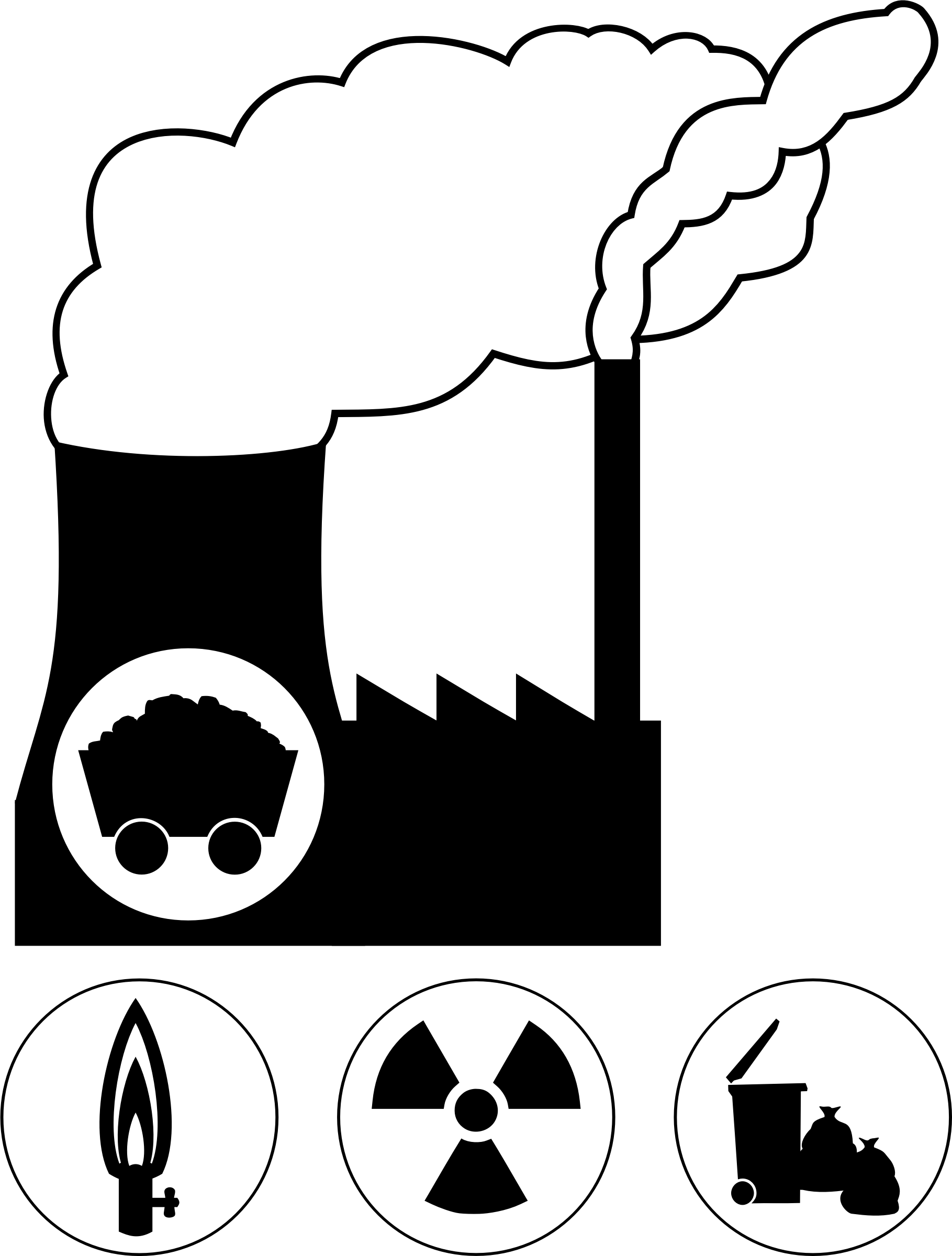 Coal power plant clipart