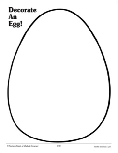 Large Blank Egg Template - ClipArt Best