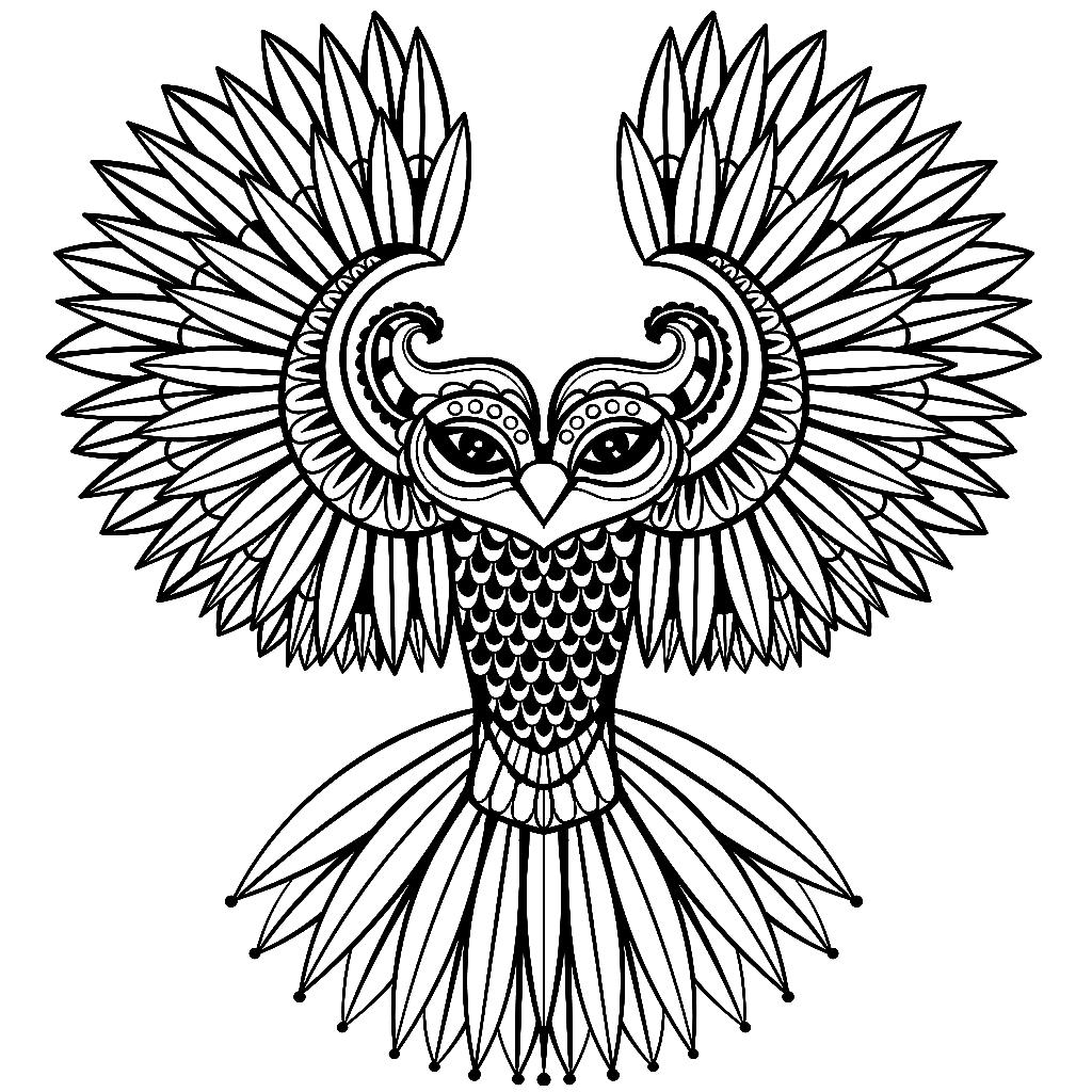 Gambar Burung Untuk Mewarnai