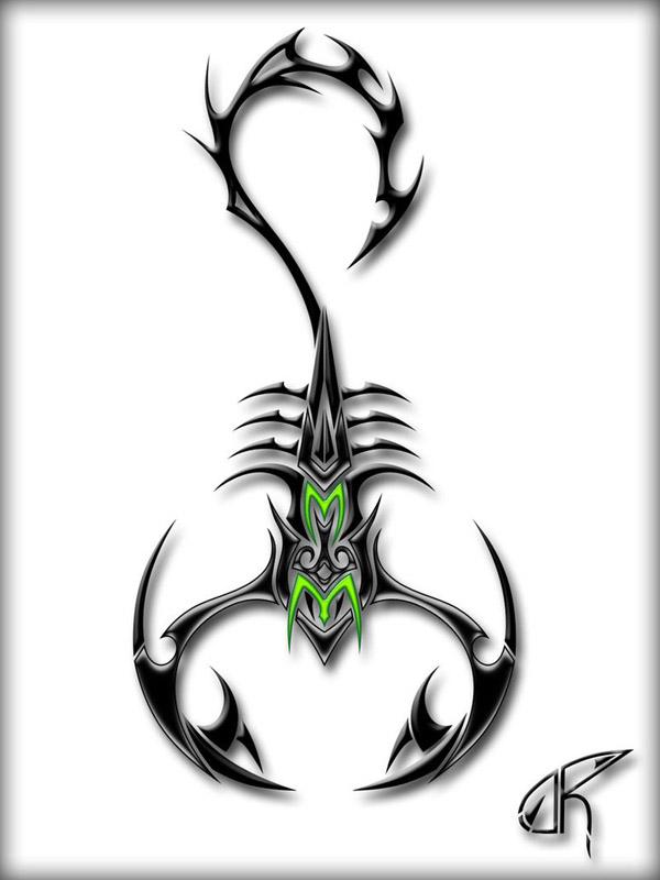 Рисунки скорпиона крутые