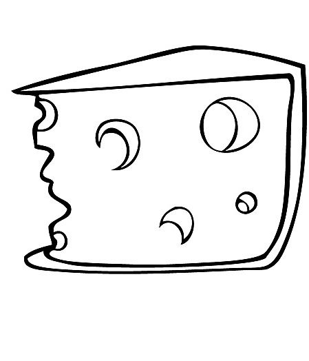 Cheese Coloring Clipart Best Cheese Coloring Pages