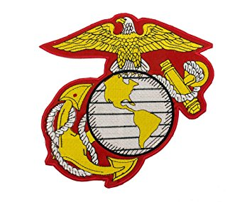 Amazon.com: US Marine Corps Embroidered Large Insignia Patch USMC ...