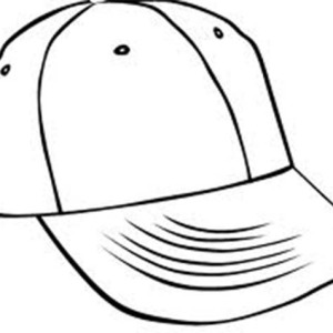 Baseball cap coloring page clipart best for Baseball cap coloring page