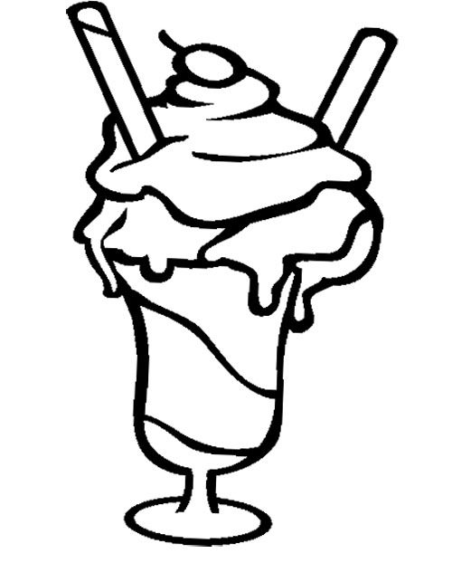 free black and white ice cream sundae clipart - photo #9