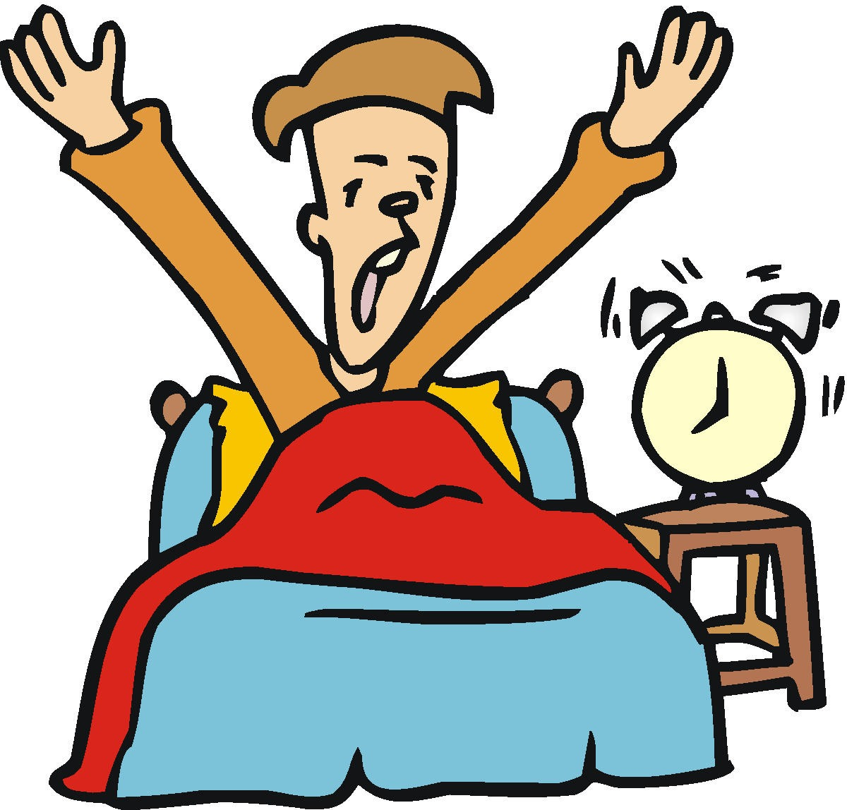 clipart of a girl waking up - photo #39