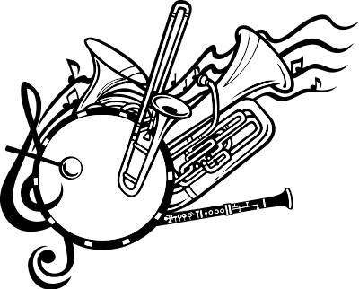 Marching Band Clipart Clarinet School Band Clip Art -...