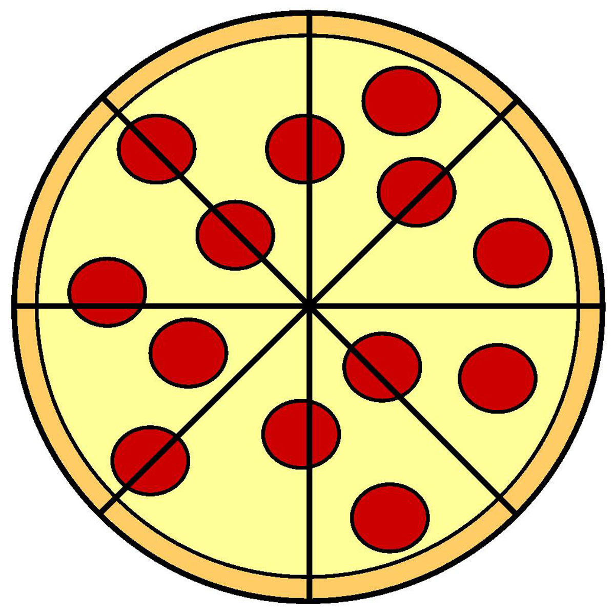 pizza fraction Colouring Pages