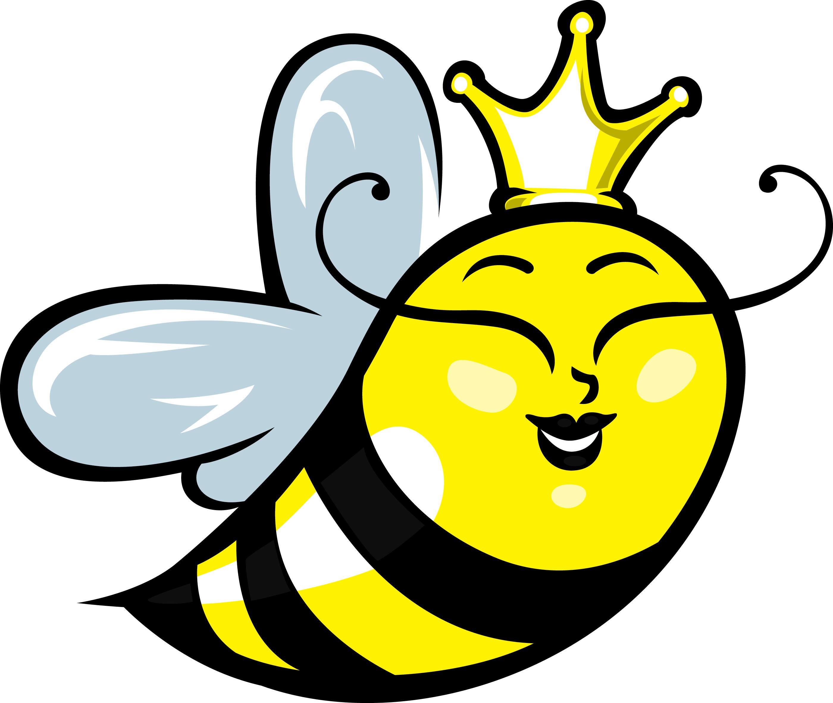Clipart bee black and white
