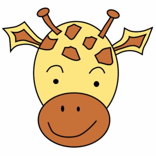 Cartoon Giraffe Face - ClipArt Best
