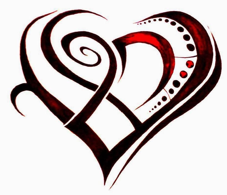 Tribal broken heart tattoo designs