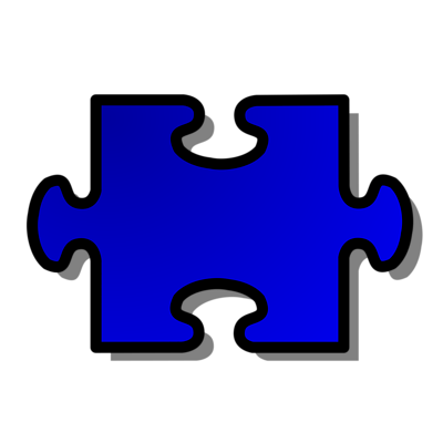 Free Stock Photos | Illustration Of A Blue Puzzle Piece | # 15015 ...