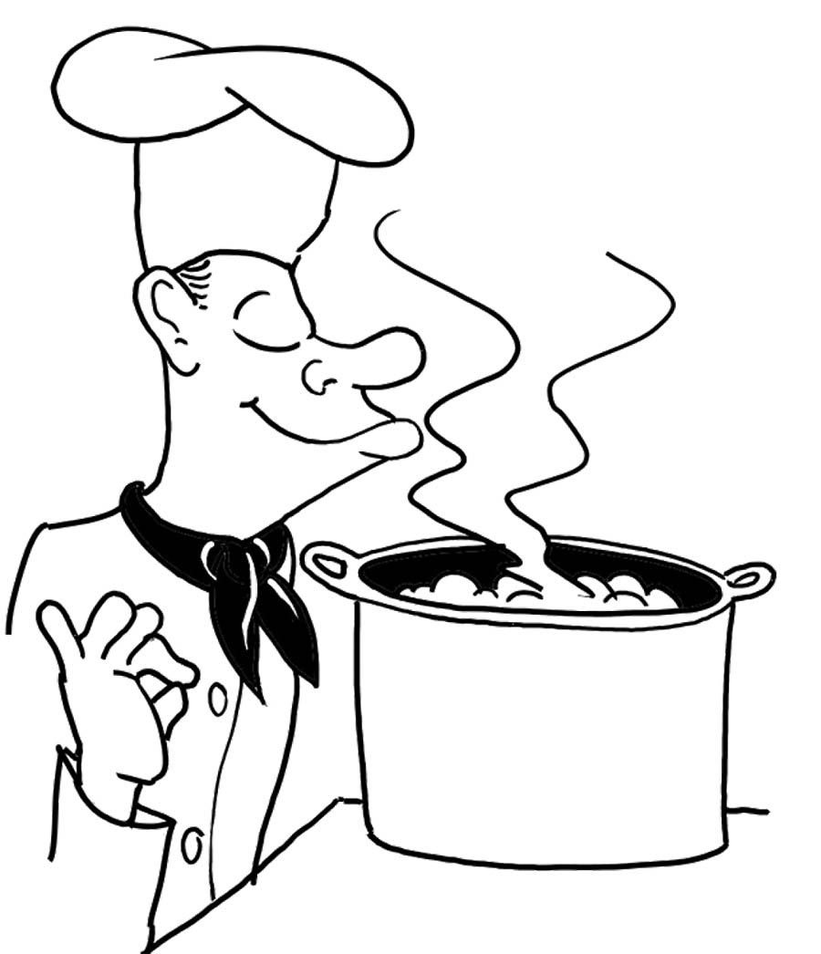bowl of soup coloring page