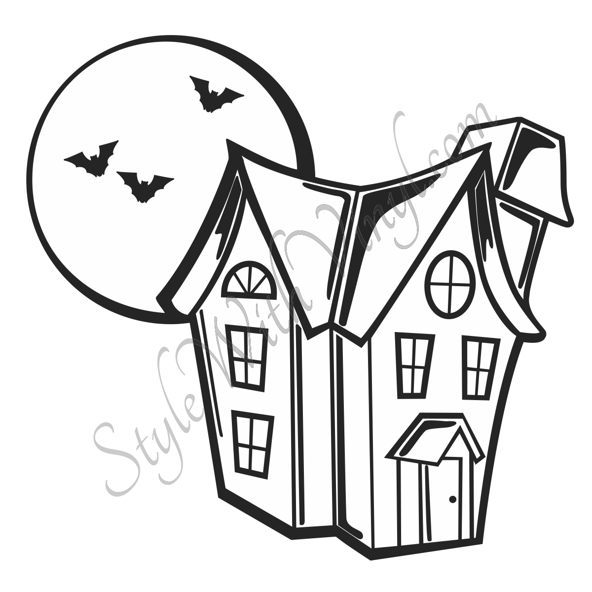 Simple Haunted House Coloring Page Haunted house drawing