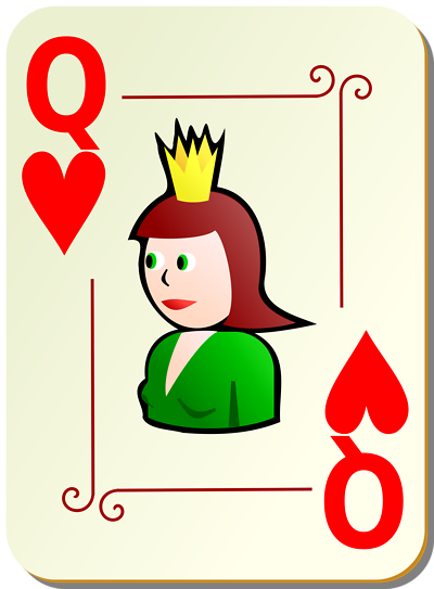 Queen Of Hearts Card Template - ClipArt Best