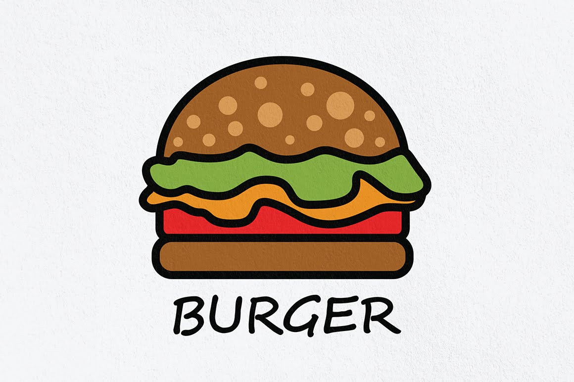 Adobe Illustrator CC Tutorial - Create a Burger Logo or Draw a ...