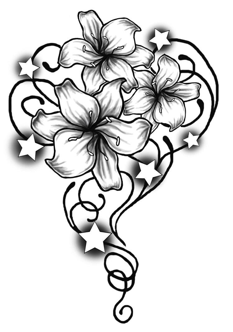 Tribal Flowers - ClipArt Best