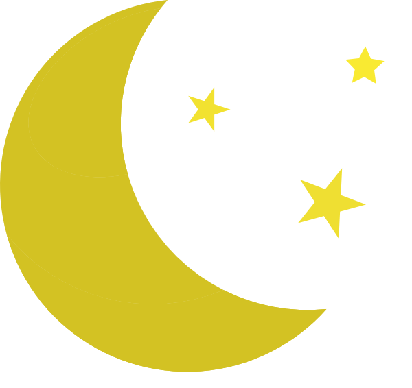 Moon And Stars clip art - vector clip art online, royalty free ...