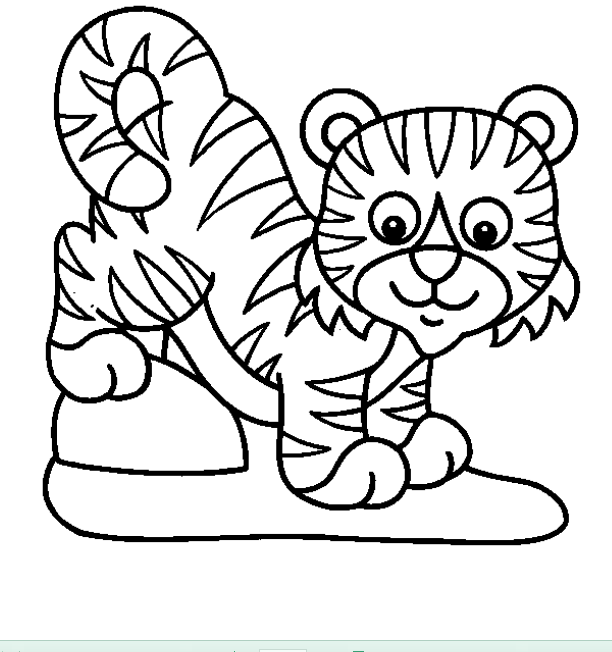 wild cat animals Colouring Pages (page 2)